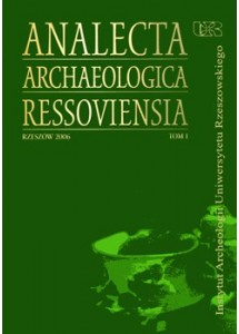 Analecta Archaeologica Ressoviensia t. 1