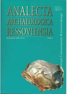 Analecta Archaeologica Ressoviensia t. 3