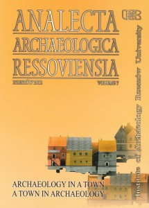 Analecta Archaeologica Ressoviensia t. 7