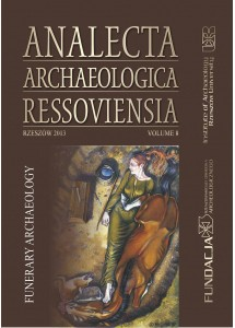 Analecta Archaeologica Ressoviensia t. 8