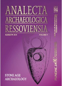 Analecta Archaeologica Ressoviensia t. 9